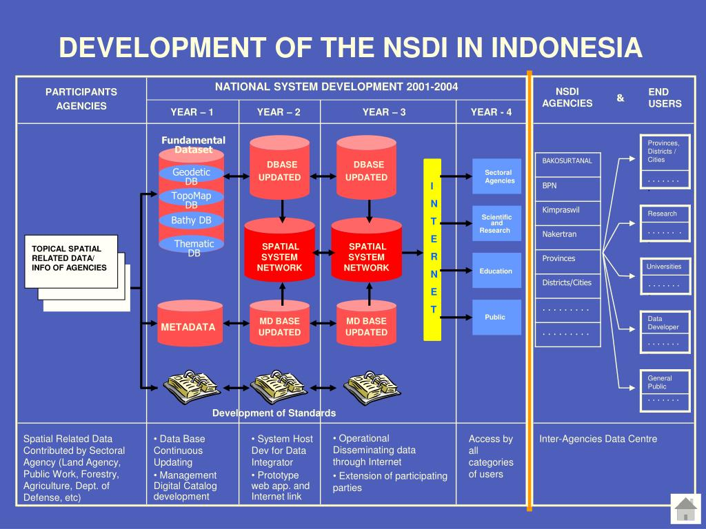 DEVELOPMENT OF THE NSDI IN INDONESIA