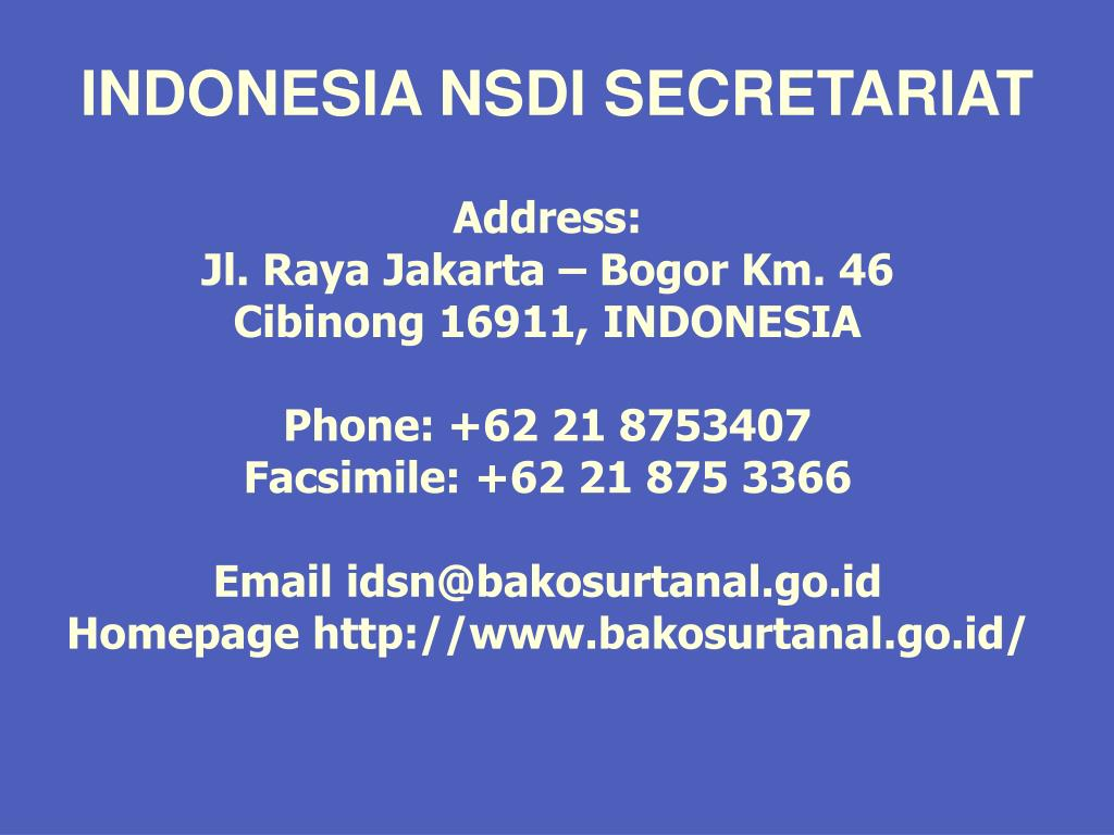 INDONESIA NSDI SECRETARIAT