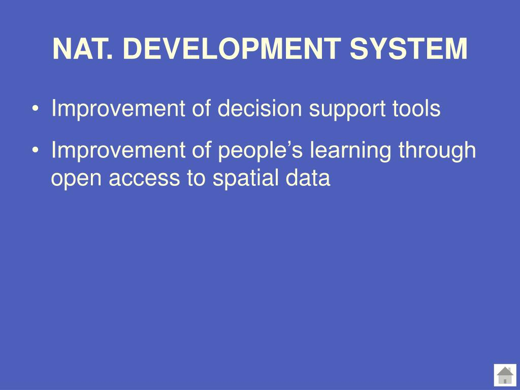 NAT. DEVELOPMENT SYSTEM
