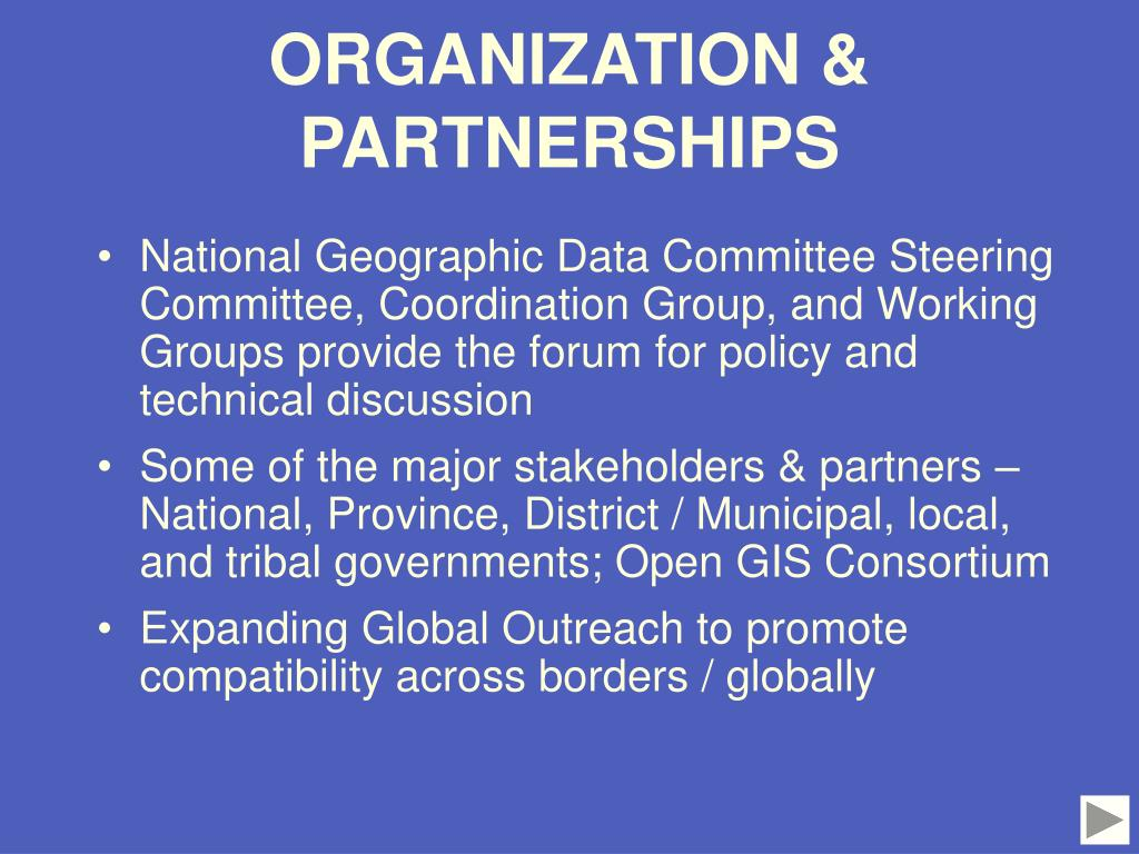 ORGANIZATION & PARTNERSHIPS