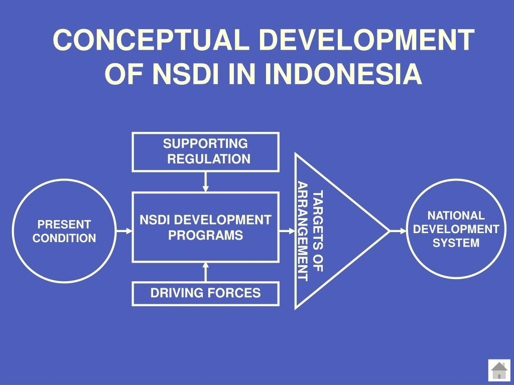 CONCEPTUAL DEVELOPMENT OF NSDI IN INDONESIA