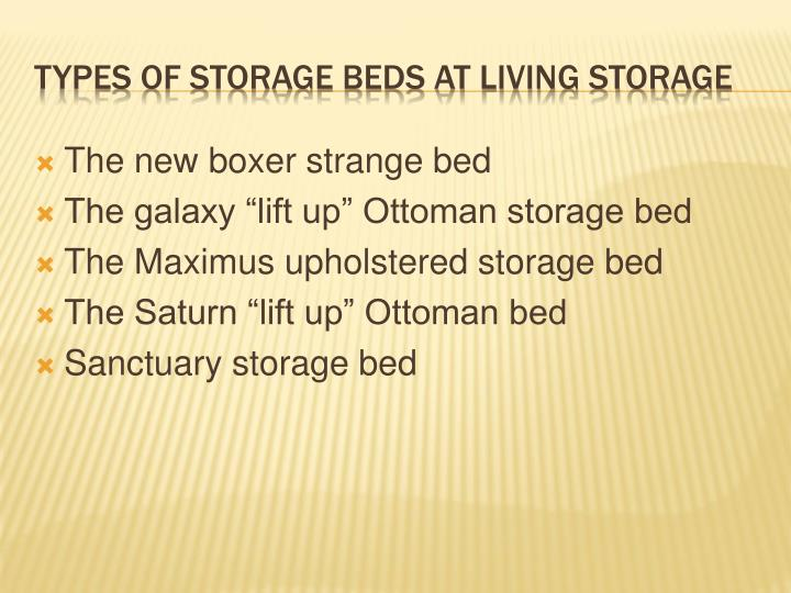 Types of storage beds at living storage
