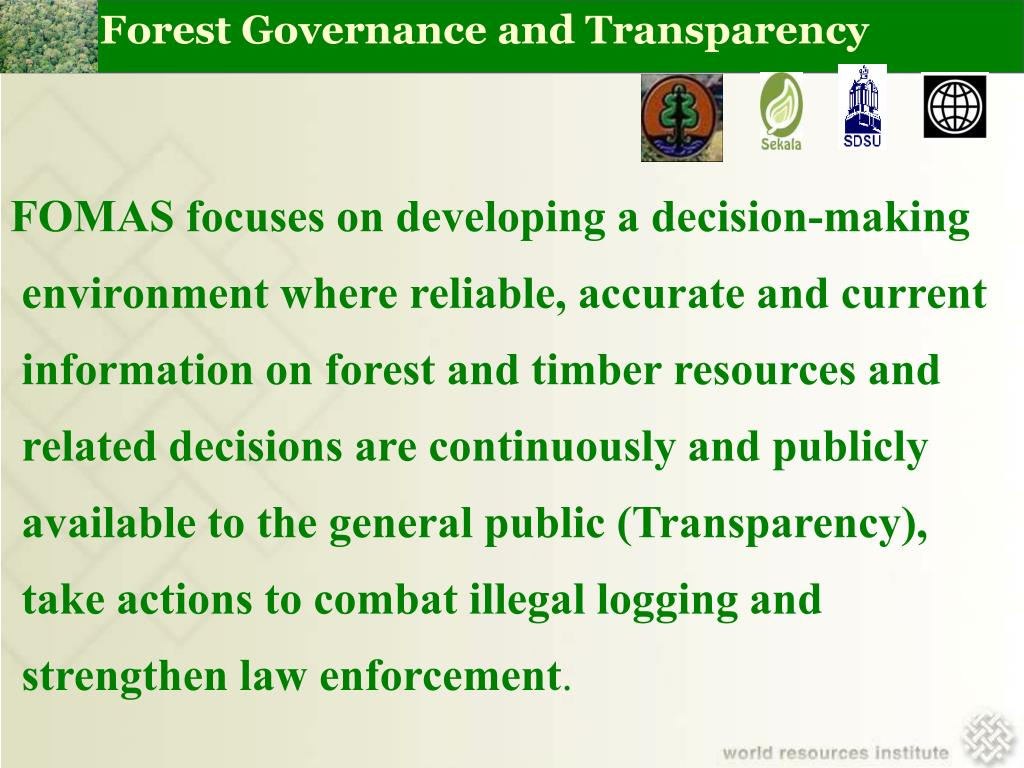 Forest Governance and Transparency