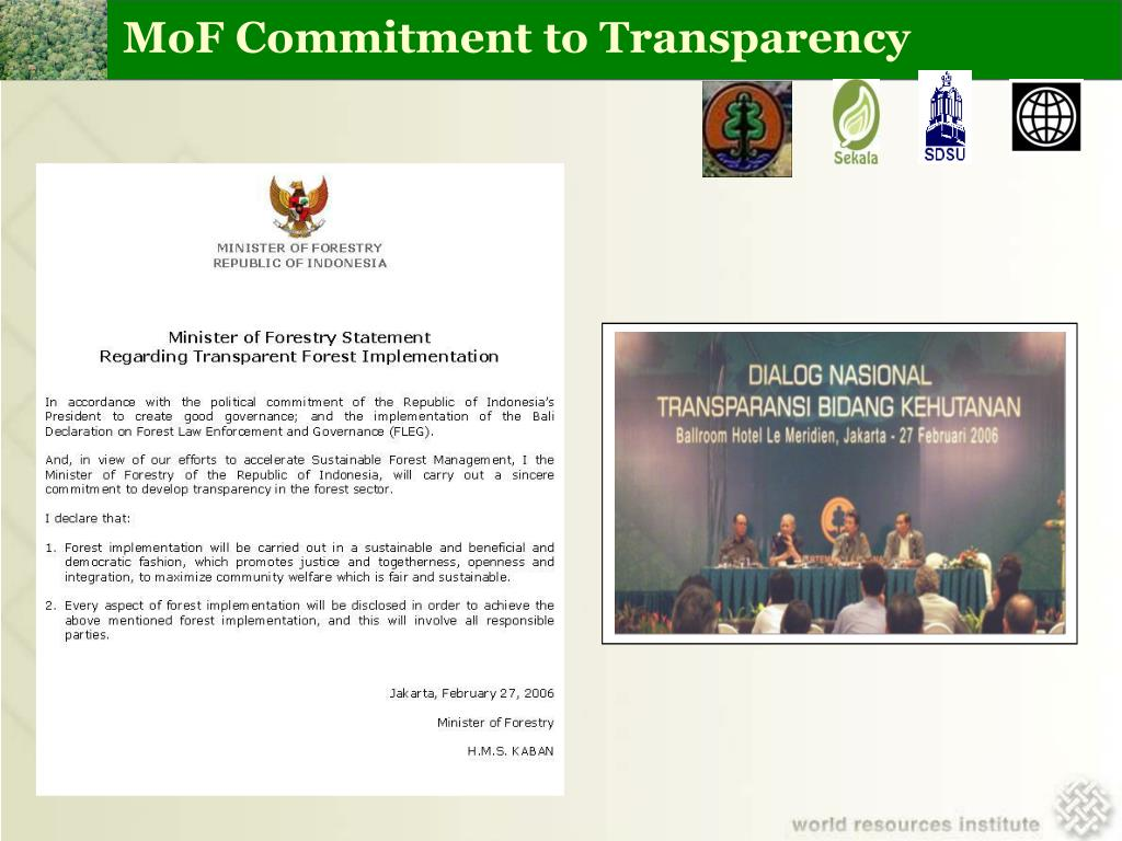 MoF Commitment to Transparency