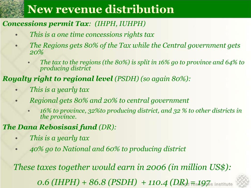 New revenue distribution