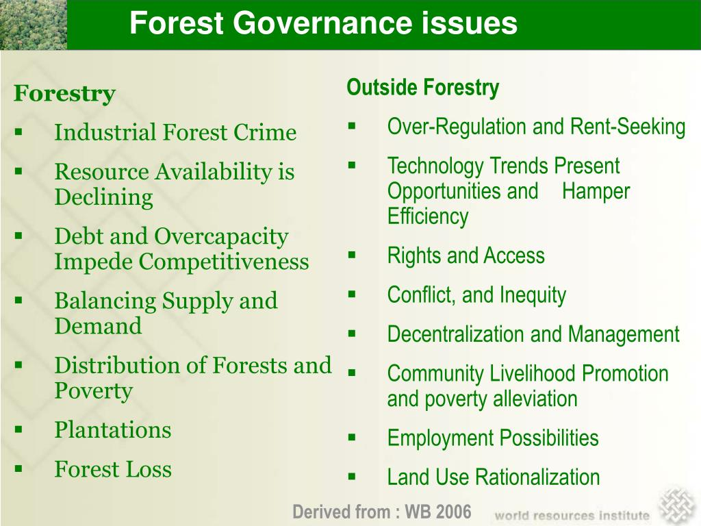 Forest Governance issues
