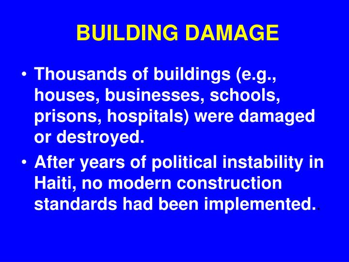 BUILDING DAMAGE