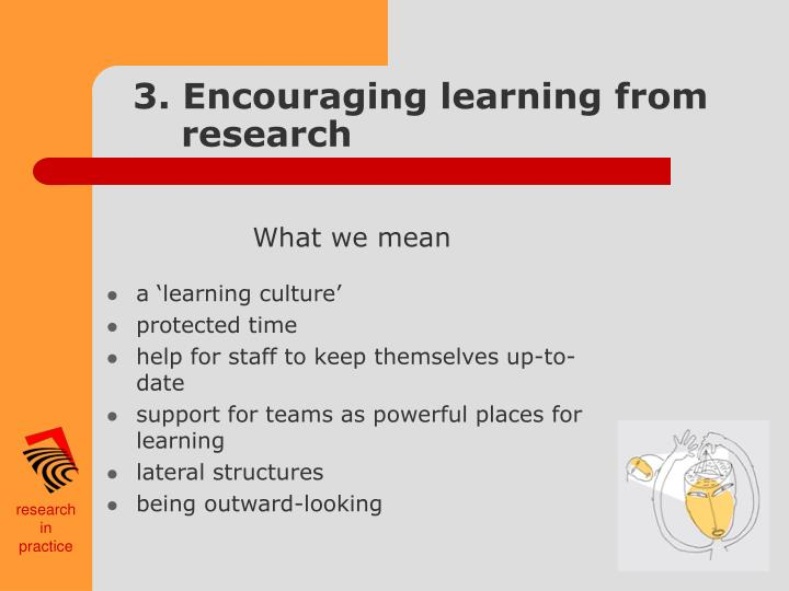 3. Encouraging learning from