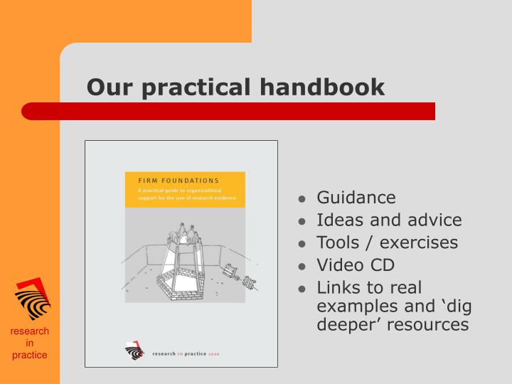 Our practical handbook
