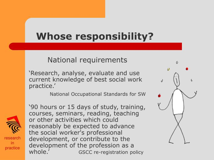 Whose responsibility?