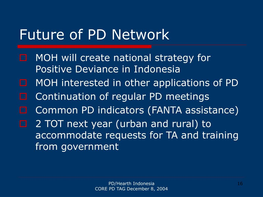 Future of PD Network