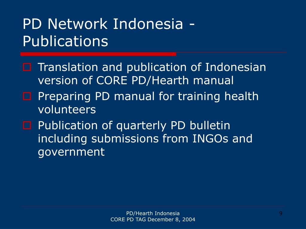PD Network Indonesia - Publications