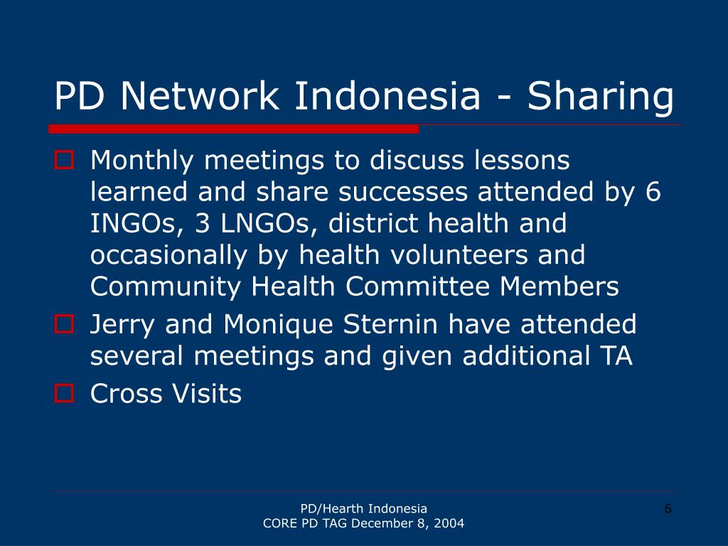 PD Network Indonesia - Sharing
