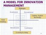 a model for innovation management14