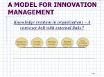 a model for innovation management15