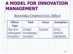 a model for innovation management22