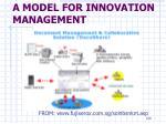 a model for innovation management24