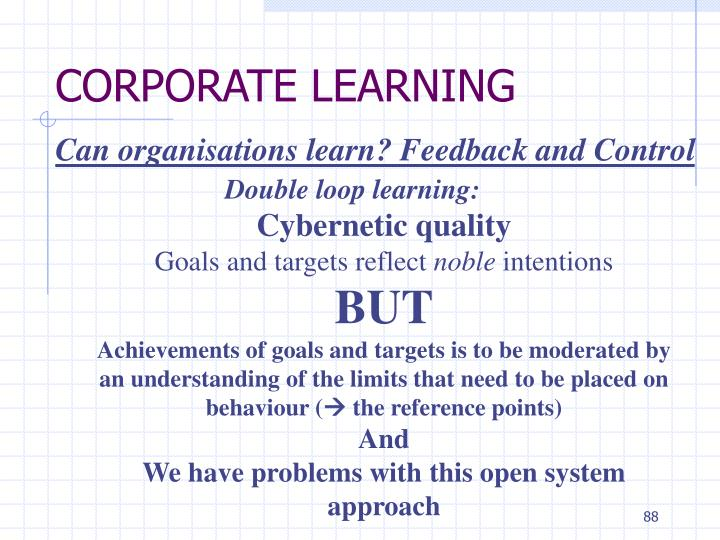 CORPORATE LEARNING