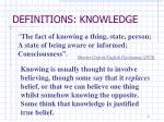 definitions knowledge