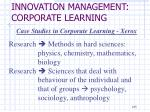 innovation management corporate learning10