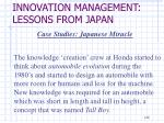 innovation management lessons from japan11