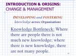 introduction origins change management11