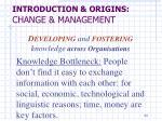 introduction origins change management12