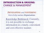 introduction origins change management13