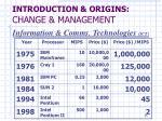 introduction origins change management3
