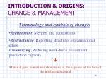 introduction origins change management6