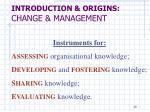 introduction origins change management7