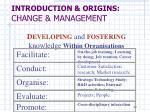 introduction origins change management8