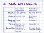 introduction origins13