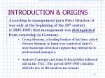introduction origins4