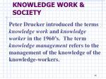 knowledge work society