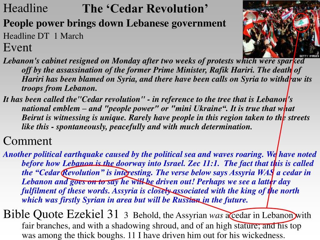 The 'Cedar Revolution'