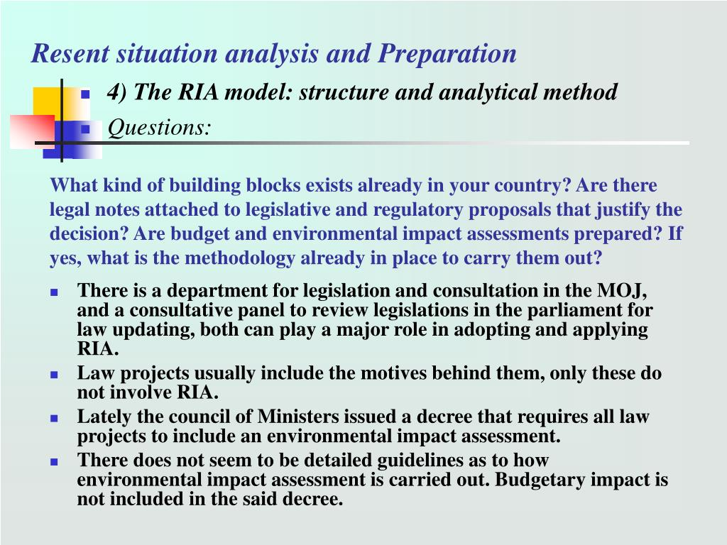 Resent situation analysis and Preparation