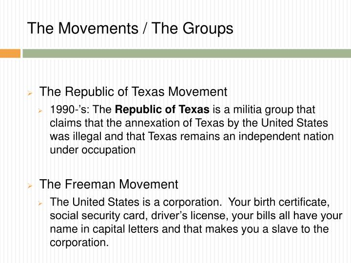 The Movements / The Groups