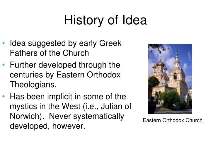 History of Idea