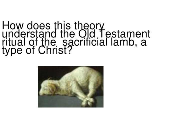 How does this theory understand the Old Testament ritual of the  sacrificial lamb, a type of Christ?