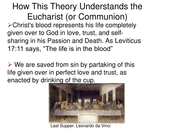 How This Theory Understands the Eucharist (or Communion)