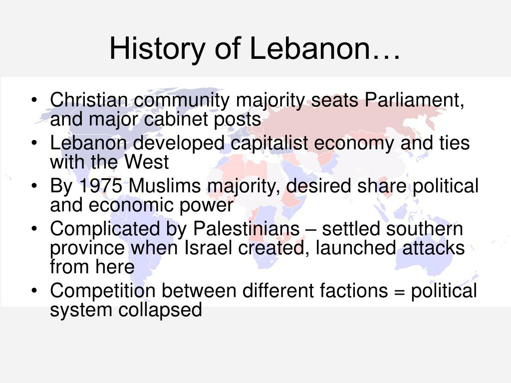 History of Lebanon…