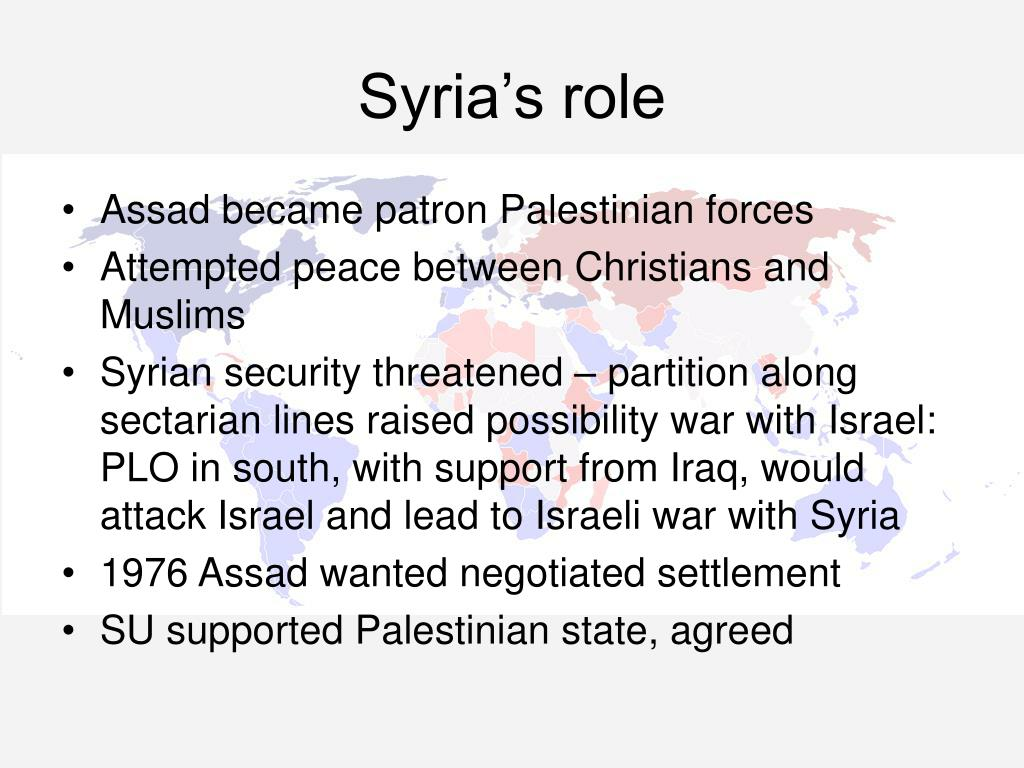 Syria's role