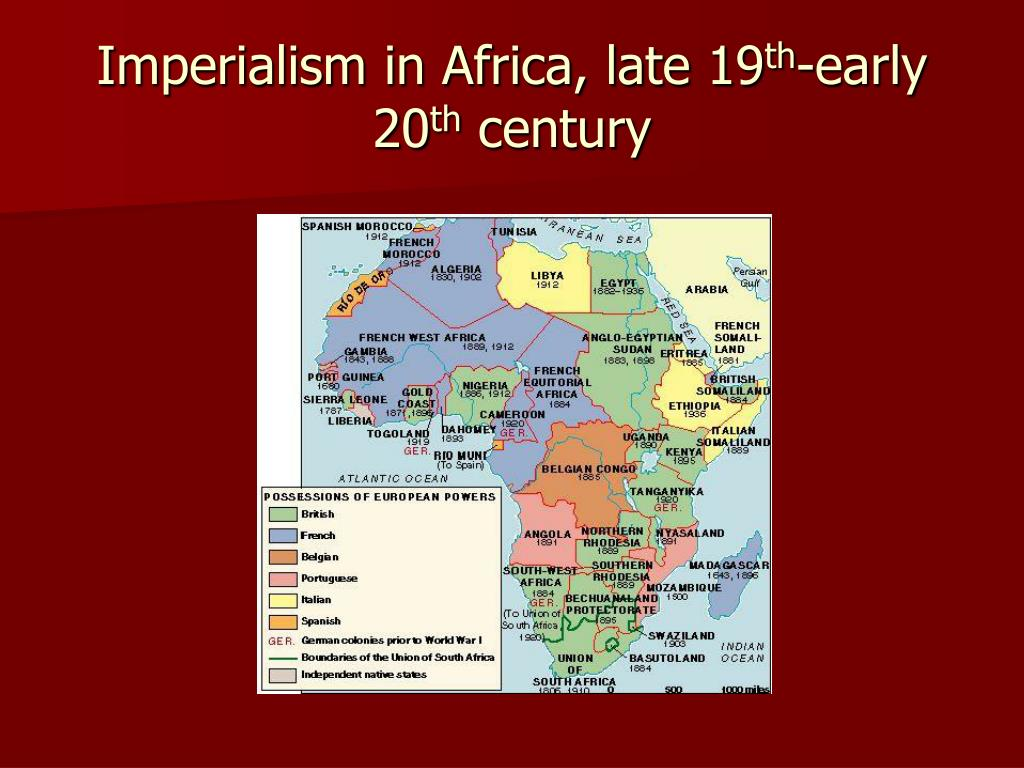 Imperialism in Africa, late 19