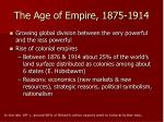the age of empire 1875 1914