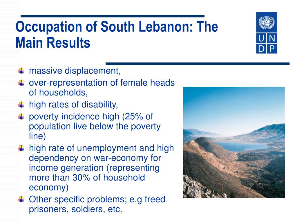 Occupation of South Lebanon: The Main Results