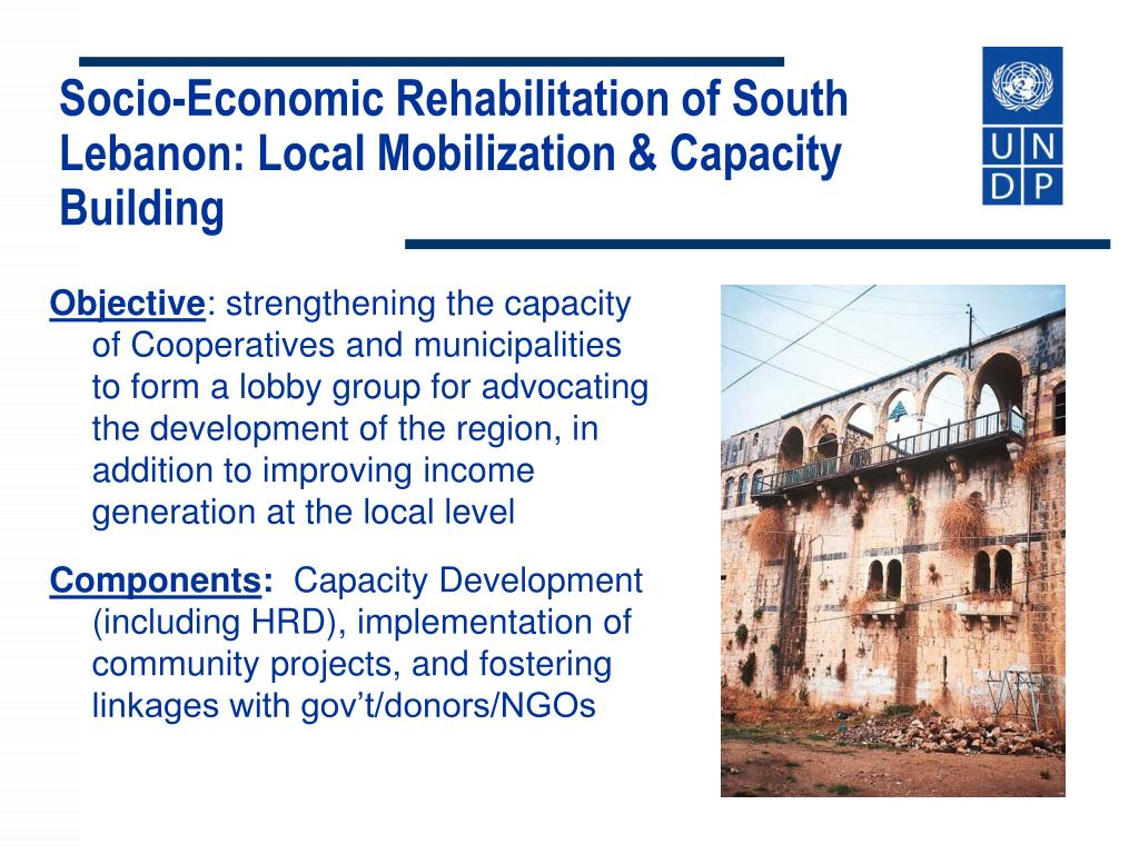 Socio-Economic Rehabilitation of South Lebanon: Local Mobilization &