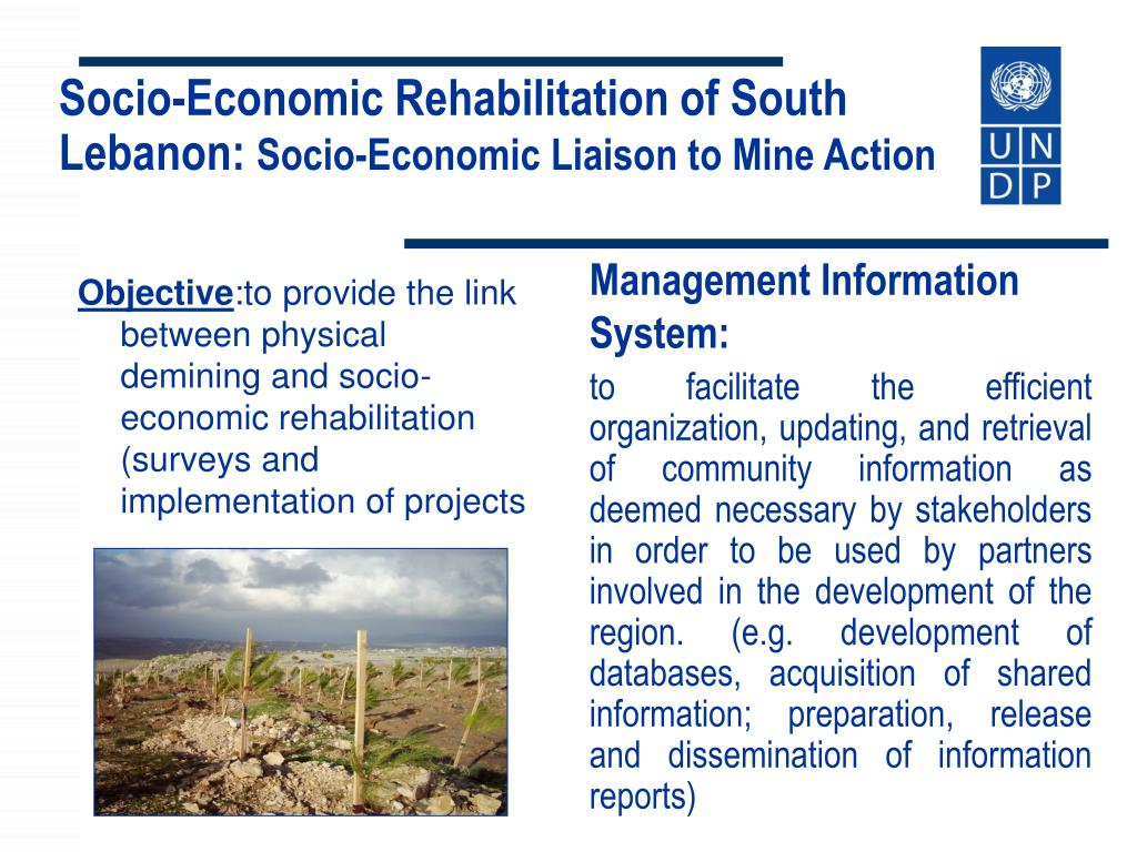 Socio-Economic Rehabilitation of South Lebanon: