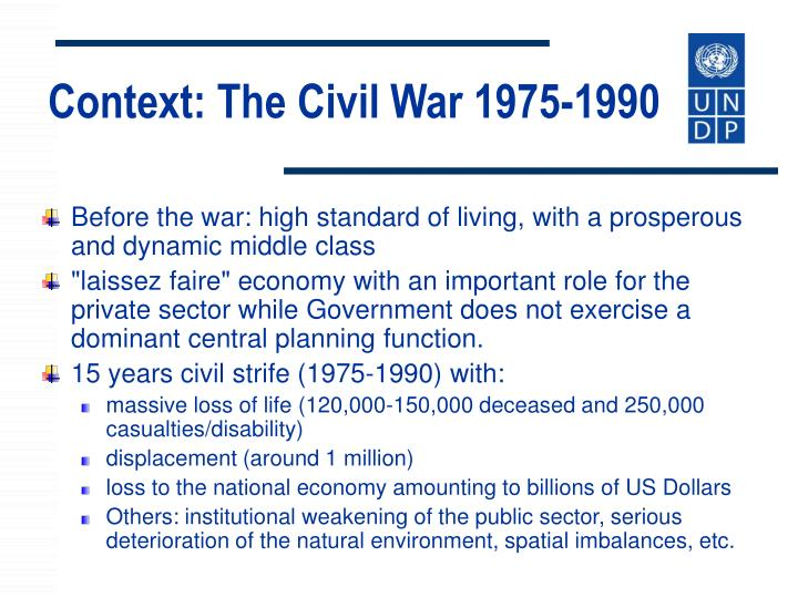 Context: The Civil War 1975-1990