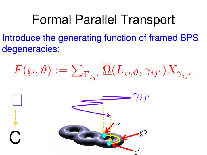 Formal Parallel Transport
